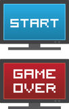 TV Start Game Over Royalty Free Stock Photos