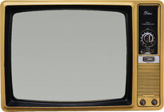 tv stary rocznik obraz stock