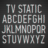 TV static effect font Royalty Free Stock Images