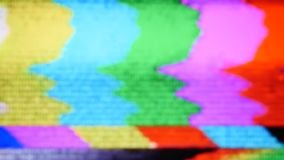 Tv static noise color bars signal stock video footage