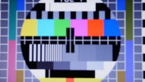 Tv static noise color bars signal. Tv static noise color bars bad signal stock footage