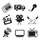 TV Station Icons Royalty Free Stock Images