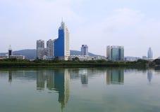 Tv station by the yundang lake Stock Image