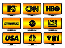 TV Stations Logos Royalty Free Stock Photos