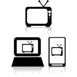 TV streaming Stock Photo