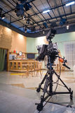 Tv studio. With interior and light Royalty Free Stock Photo
