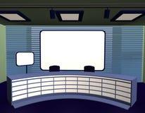 Tv studio. 3d render of tv studio Royalty Free Stock Image