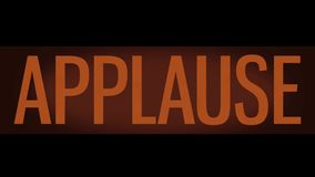 TV Studio Applause Sign
