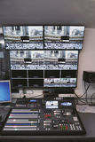 TV studio control center Stock Image