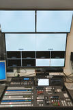TV studio control center Stock Images