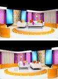 Tv studio design. 3d rendering tv studio design Stock Images