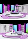 Tv studio design Stock Photos