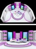 Tv studio design Royalty Free Stock Image