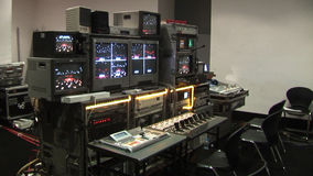 Tv studio equipment. Directing control stock video footage