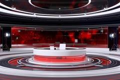Tv Studio Interior. Modern Tv Studio Interior. 3d Illustration Royalty Free Stock Photography