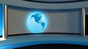 Tv Studio. News studio. Blue studio. The perfect backdrop  Royalty Free Stock Photography