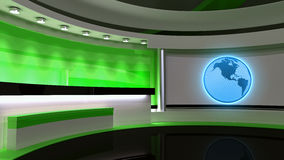 Tv Studio. News studio. Green studio. The perfect backdrop for a Stock Image