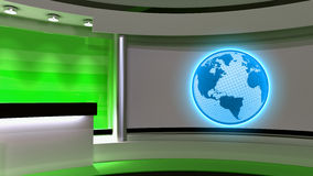 Tv Studio. News studio. Green studio. The perfect backdrop for a Stock Photos