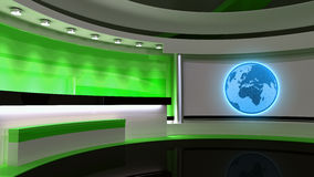 Tv Studio. News studio. Green studio. The perfect backdrop  Royalty Free Stock Photos