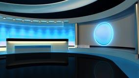 Tv Studio. News studio. News room. Breaking News.3D rendering. stock video