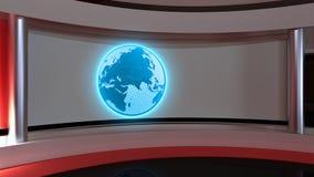 Tv Studio. News studio. Red studio. The perfect backdrop for any Stock Photos