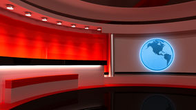 Tv Studio. News studio. Red studio. The perfect backdrop for any Royalty Free Stock Photos