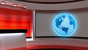 Tv Studio. News studio. Red studio. The perfect backdrop  Stock Photography