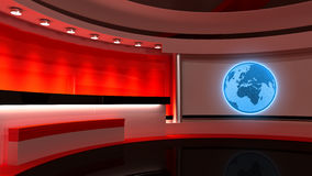 Tv Studio. News studio. Red studio. The perfect backdrop  Stock Image