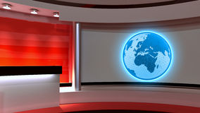 Tv Studio. News studio. Red studio. The perfect backdrop  Royalty Free Stock Photos