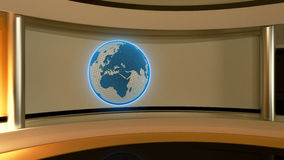 Tv Studio. News studio. Yellow studio. The perfect backdrop  Royalty Free Stock Image