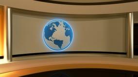 Tv Studio. News studio. Yellow studio. The perfect backdrop  Stock Photos