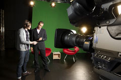 TV Studio preparations Stock Photo