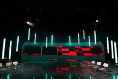 TV studio royalty free stock images