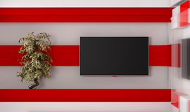 Tv Studio. TV on wall. News studio. Backdrop for TV shows Royalty Free Stock Images