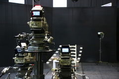 TV studio z kamerą i jeden światłem Zdjęcia Royalty Free