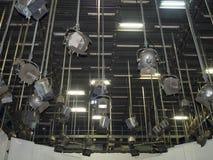 TV-studiolichten royalty-vrije stock afbeeldingen