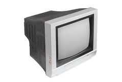 TV su priorità bassa bianca Fotografie Stock Libere da Diritti
