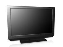 TV su una priorità bassa bianca Fotografia Stock Libera da Diritti