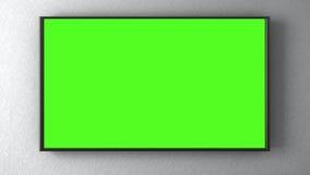 TV sur le mur illustration de vecteur