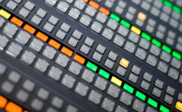 TV SWITCHER CLOSE UP Royalty Free Stock Photography