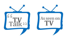 TV Talk Comment Stock Images