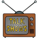 TV Talk Shows. An illustration of a television Royalty Free Stock Image