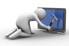 TV technical service Stock Image