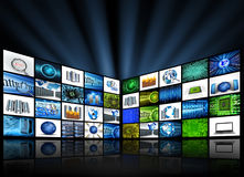 Tv technology Stock Image