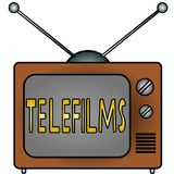 TV Telefilms. An illustration of a television Royalty Free Stock Images