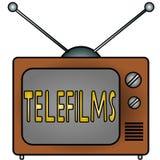 TV Telefilms. An illustration of a television Royalty Free Illustration