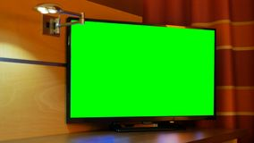TV television green screen indoor. TV or television green screen indoor stock footage