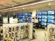 TV (Television) sale on shopping mall Stock Photography
