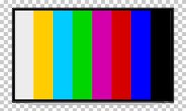 TV, televisione, schermo del dispositivo con l'immagine di controllo immagine stock libera da diritti