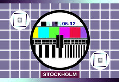 Tv test card Royalty Free Stock Photography